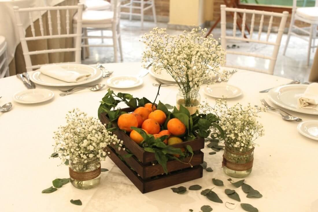 decoracion de mesas en salones y masias