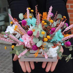 caja flores secas