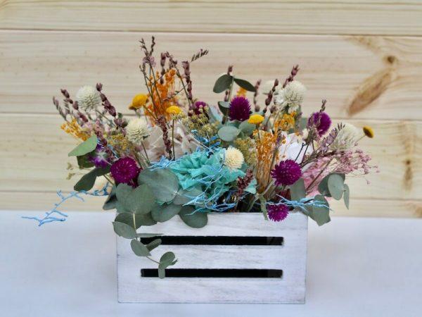 caja de flores secas