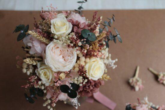 ¿Ramo de novia preservado o natural?