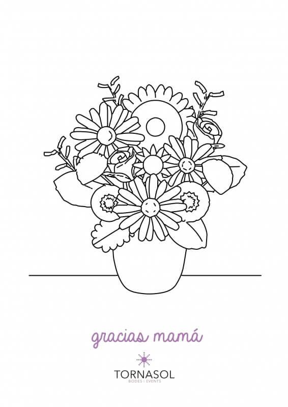 centro de flores para mamá