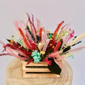 caja de flores secas de colorines