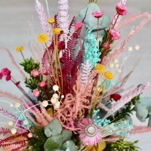 Cesto de flores secas mediano