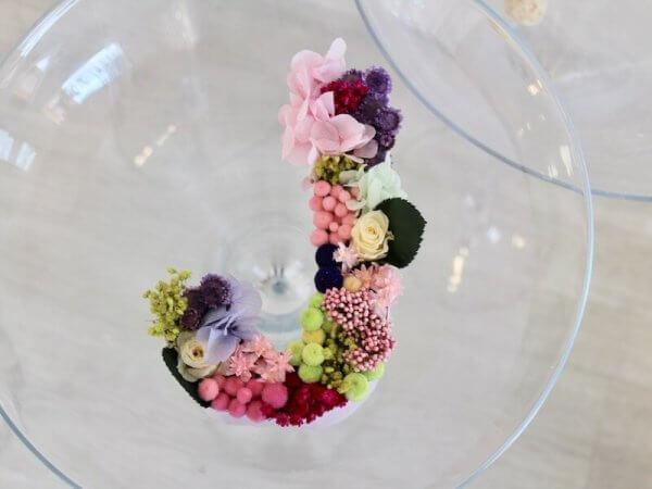 letras de flores preservadas para regalar en Valencia