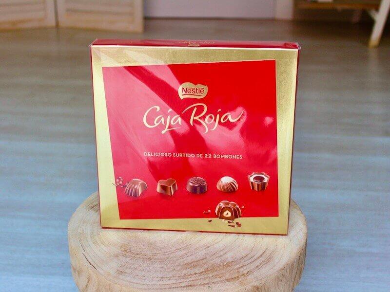 Caja de bombones caja roja