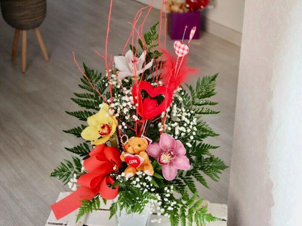 centro de orquideas para regalo de san valentin