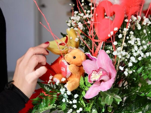Centro de orquídeas para regalar en san valentin