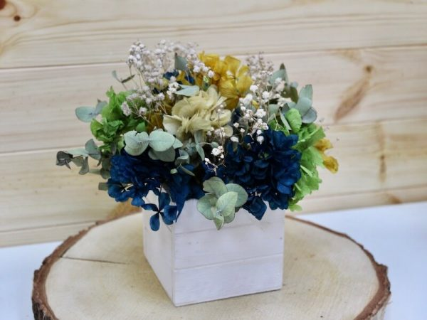 caja de hortensias preservadas para regalar